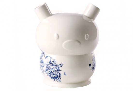 I Love Bambi ceramic vase by Frank Willems