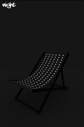 Glow in the dark chair