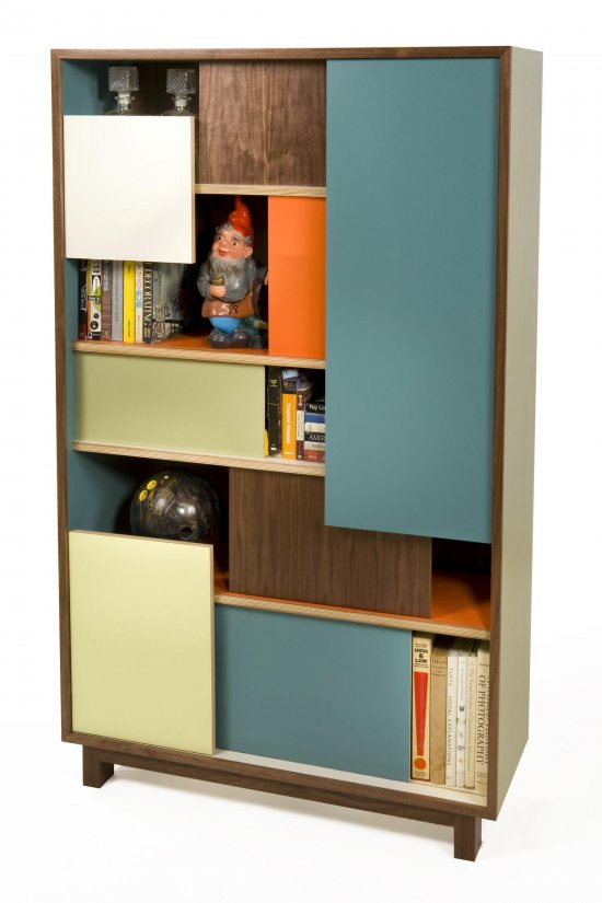 Thomas Wold, Block Party Bookcase and credenza, Hello Color