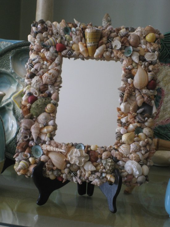 Collectable Handmade Shell Mirror