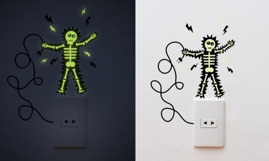 fluorescent decorative stickers