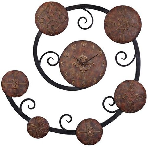 Hand Forged Metal Wall Clock