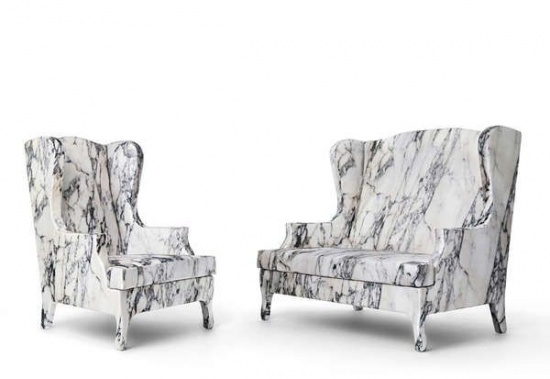 'Louis XV goes to Sparta' chairs by Maurizio Galante and Tal Lancman for Cerruti Baleri