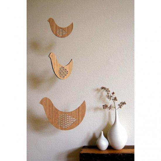 Petit Collage - Bird Trio mobile