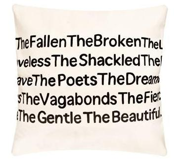 Poetry pillow