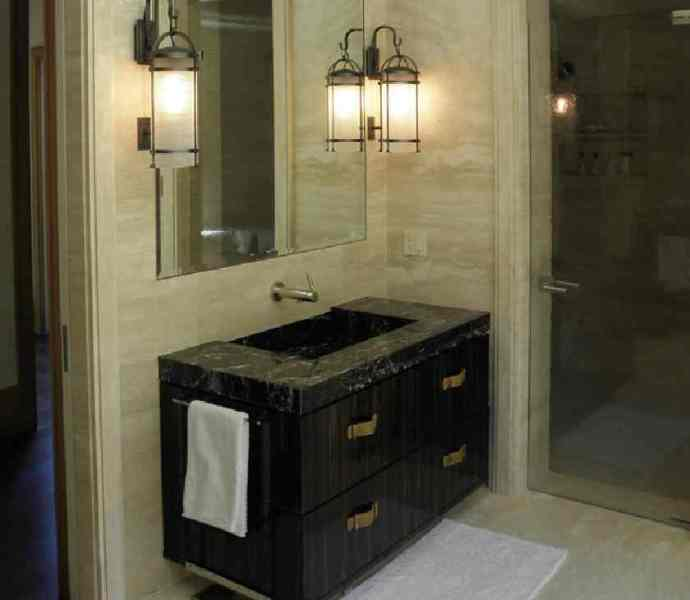 1930s French-style master bath by Erik Johnson & Associates