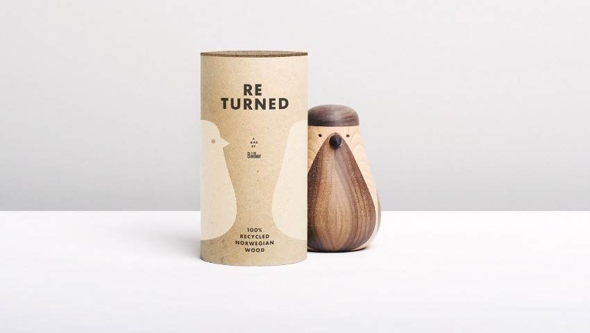 Re-turned wooden bird by Beller