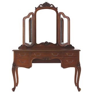 Dressing table with mirrored back