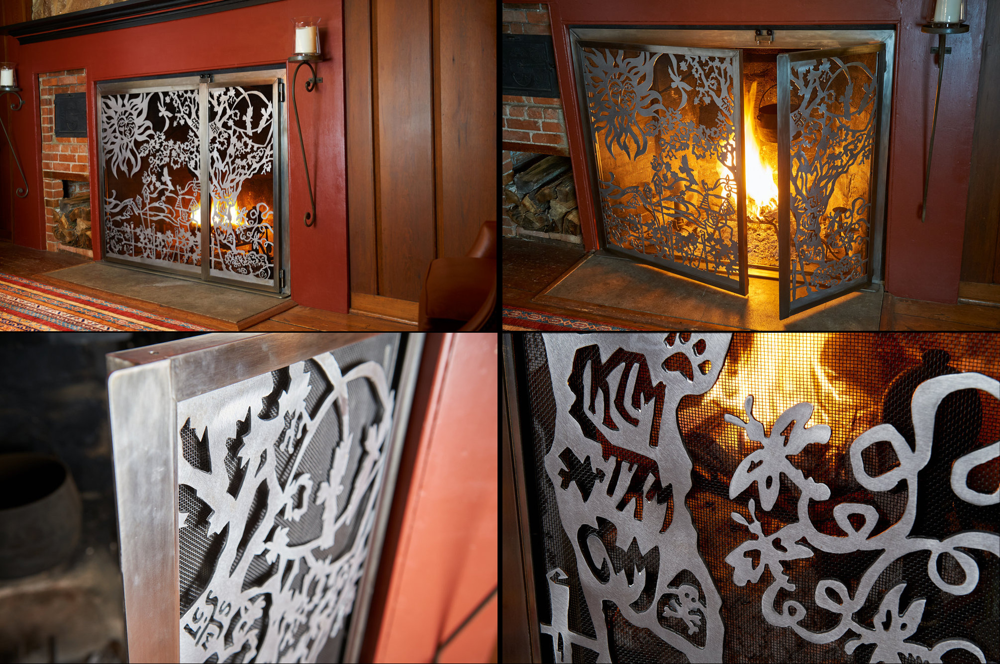 Family Tree fireplace