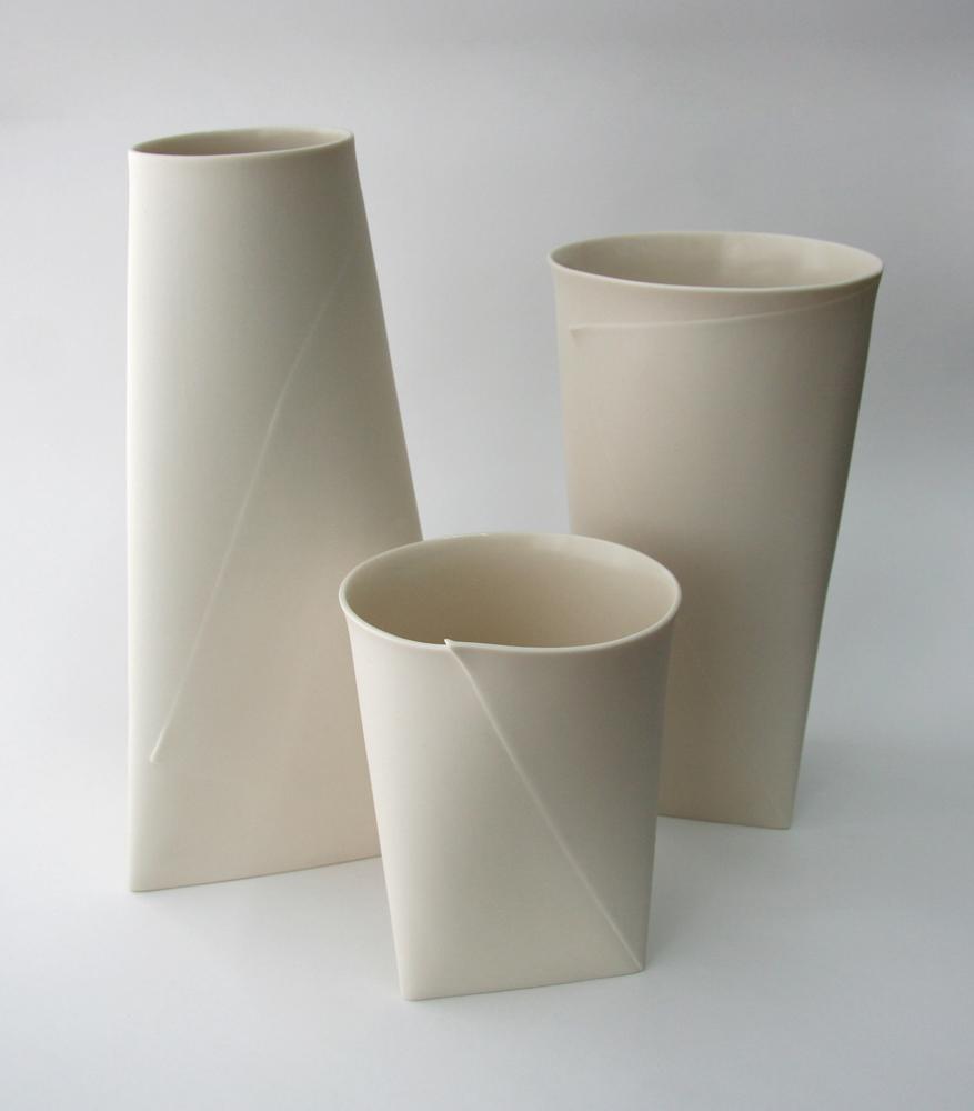 Large Folded A Vases