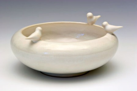 Bird bowl white