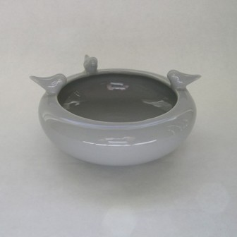 Bird bowl on grey