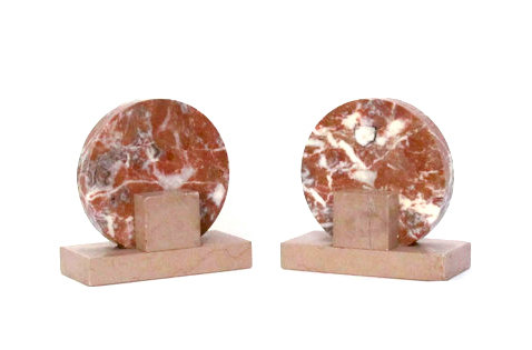 brown sand marble 1950s bookends on Etsy