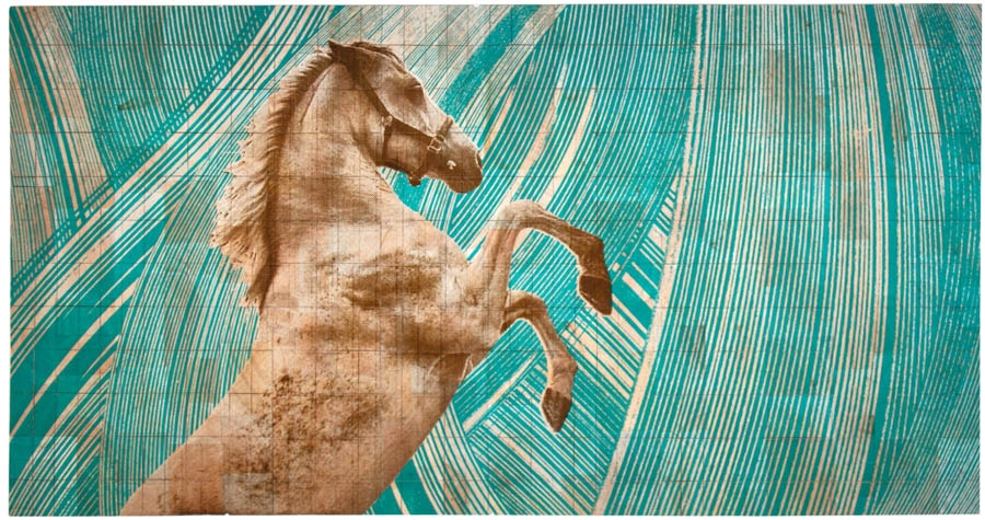 Fauna Balsa Wall Hanging, Stallion