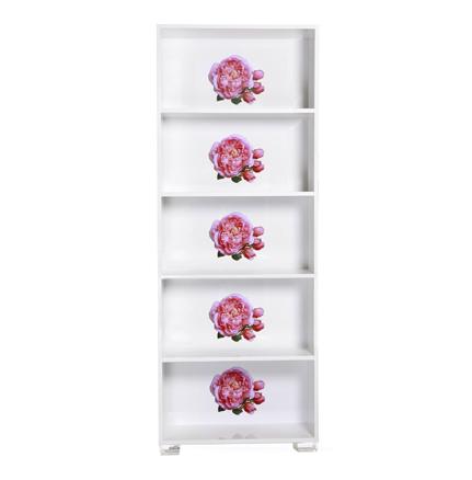 Floral Art, Rosebud Bookshelf