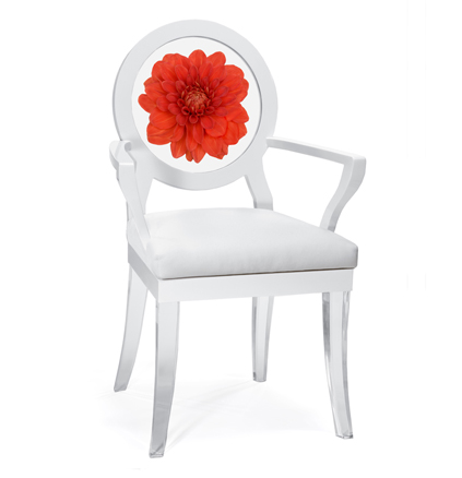 Floral Art, Dahlia Floret chair