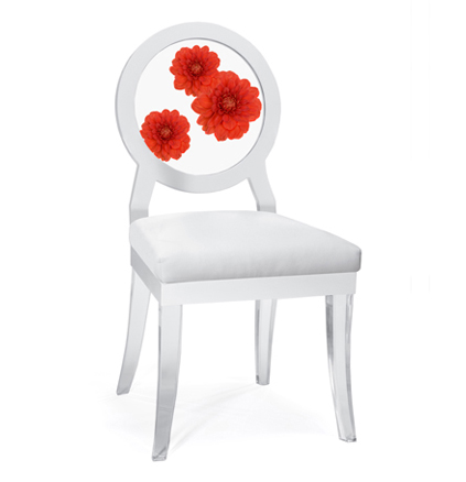 Floral Art, Dahlia Trio Floret chair