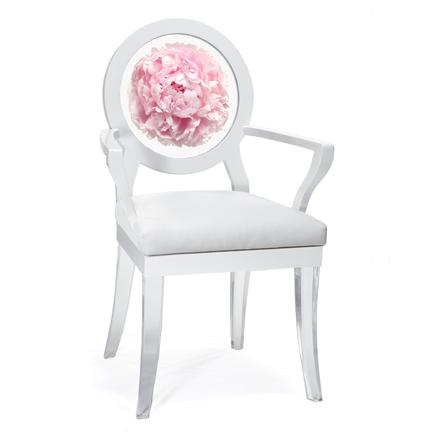 Floral Art, Floret Peony chair