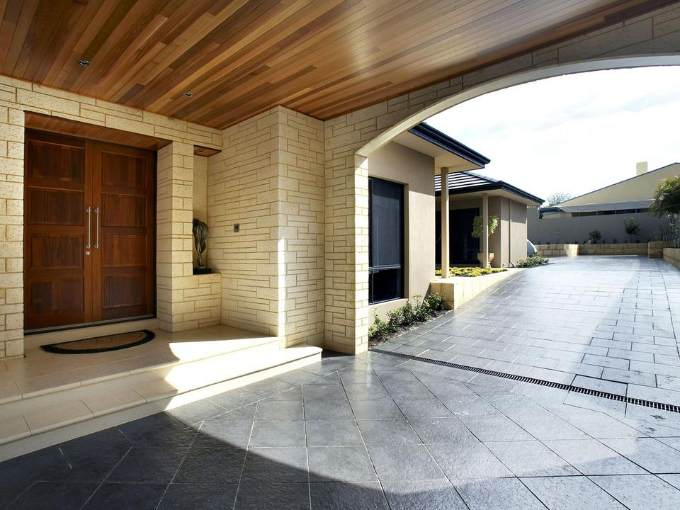 charcoal block paving in driveway design