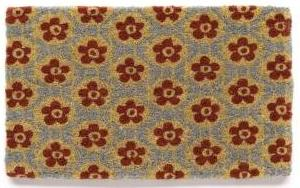 Garnet Hill, Flower Tile doormat