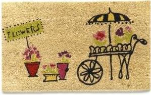 Garnet Hill, Flower Market doormat