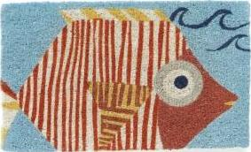 Garnet Hill, Tiger Fish doormat