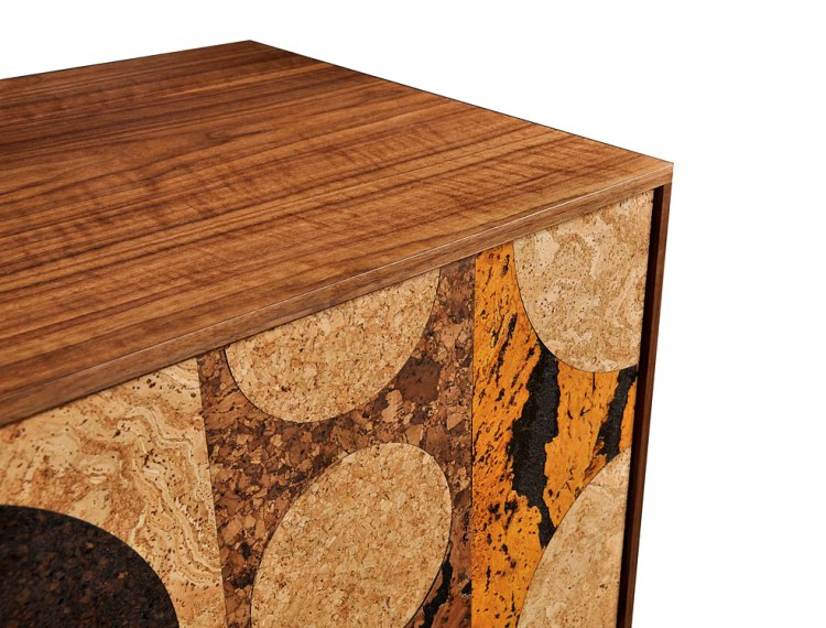 Iannone Design cork mosaic cabinet top