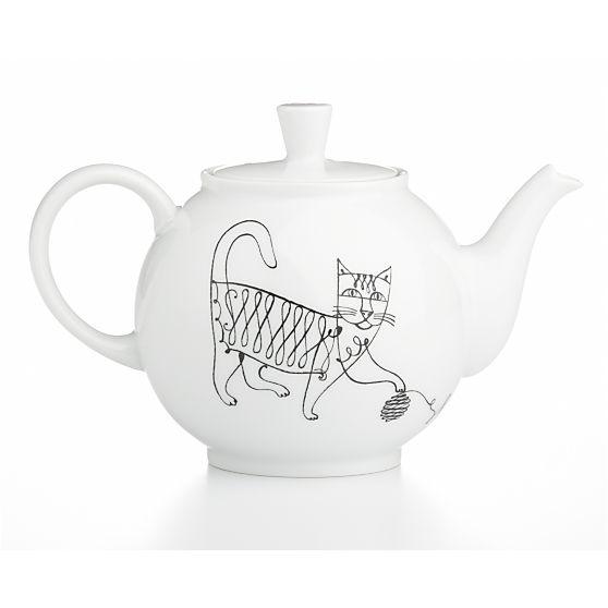 Elvis Swift design, June teapot, left side view