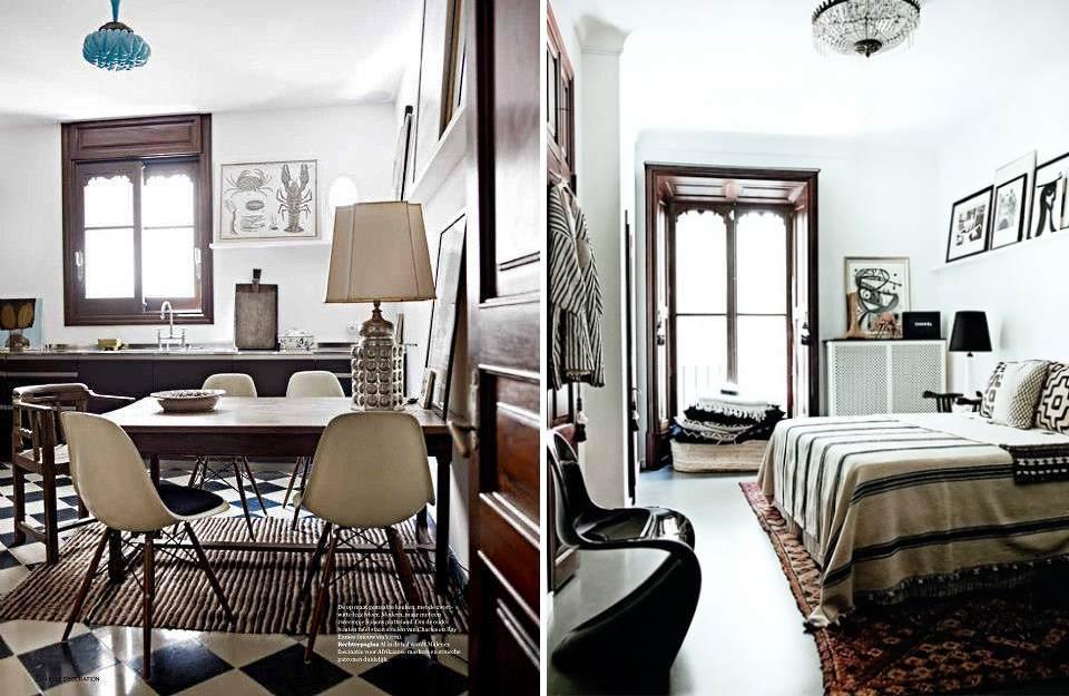 Birger house, Palma de Mallorca, kitchen & bedroom