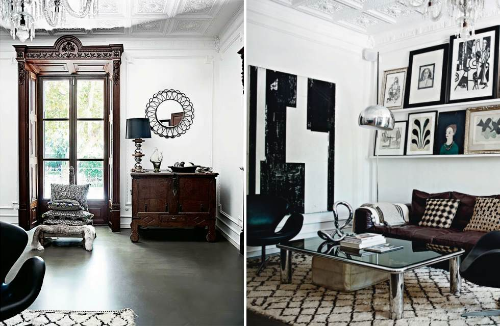 Malene Birger house, Mallorca, living room
