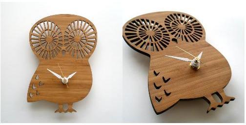 Decoylab, Modern Baby Owl Clock