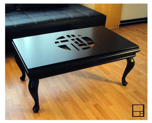 Classic series black coffee table by MSTRF
