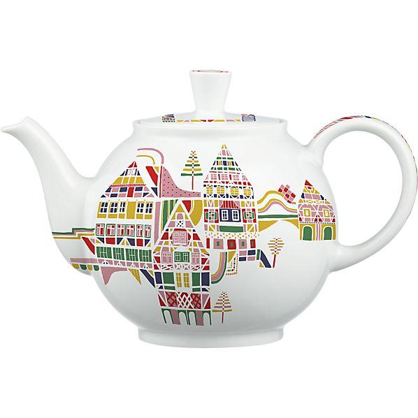 Julia Rothman design for Crate&Barrel 50th Anniversary November teapot