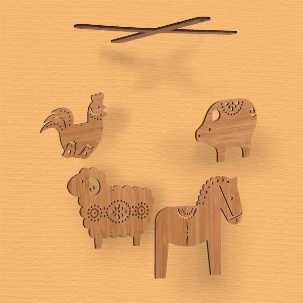 Petit Collage - Farm Mobile