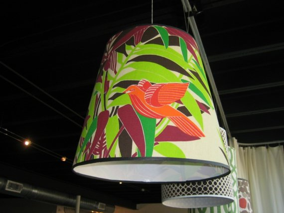 This Bird has Flown Lampshade, $225.00 USD, SpruceHome