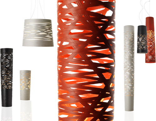 Tress lamp in red, black & white