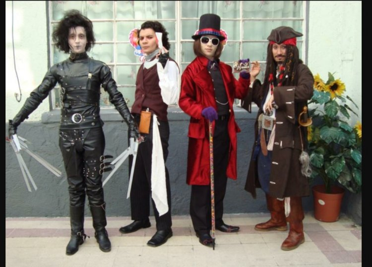 Johnny Depp and his famous personalities - group costume idea