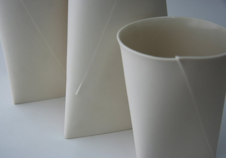 Large Folded A Vases, detail