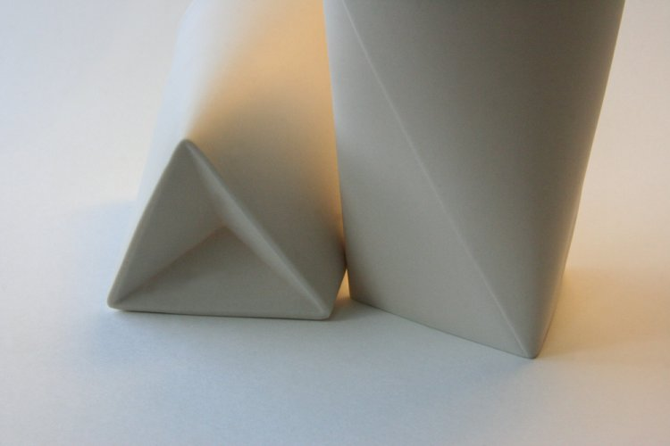 Large Folded A Vases, foot