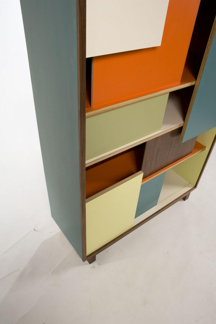Block Party Bookcase, Hello Color - detail