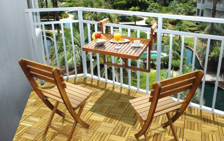 balcony folding chairs set