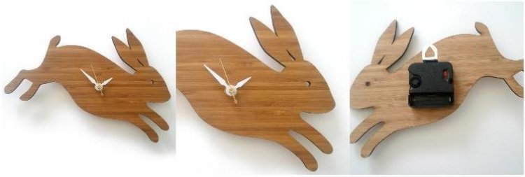 Decoylab, Modern Baby Rabbit Clock