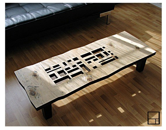 AD series long coffee table by MSTRF