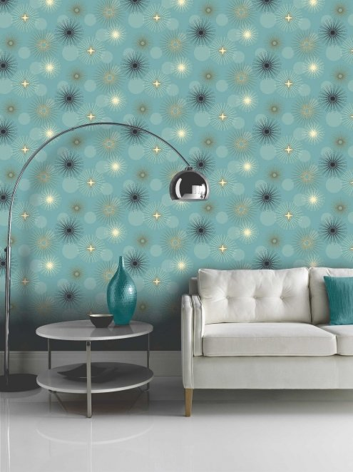 Opera Jazz Teal wallpaper from Arthouse