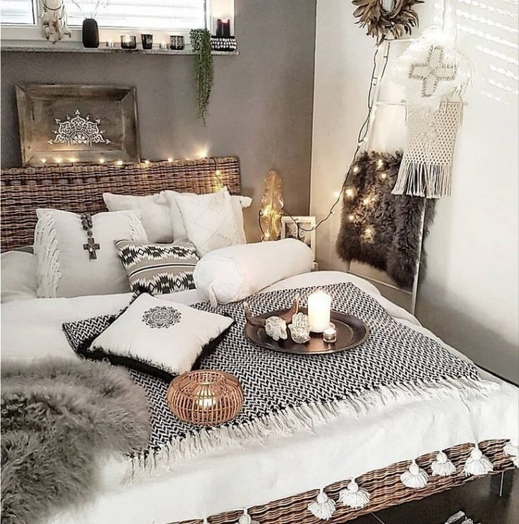 personal choice of bedroom ornaments and accessories