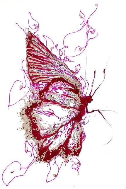 BalletArt Red Butterfly