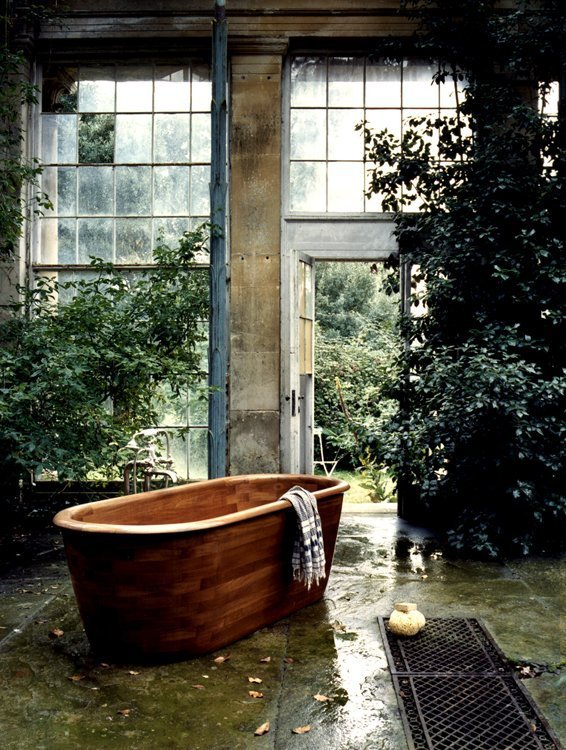 The Water Monopoly Teak bath