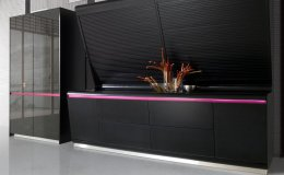 The design and color of the KOOK kitchen signed by Karim Rashid